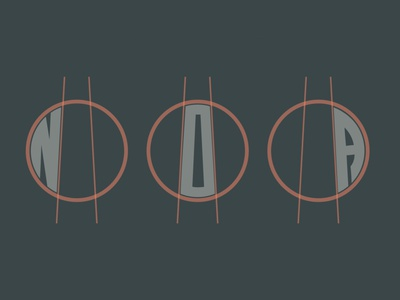 Noa Branding Progress type typography illustration icon flat vector minimal logo design branding