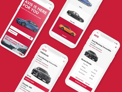 Avis Mobile Concept Design vector logo website web app minimal flat ui ux design