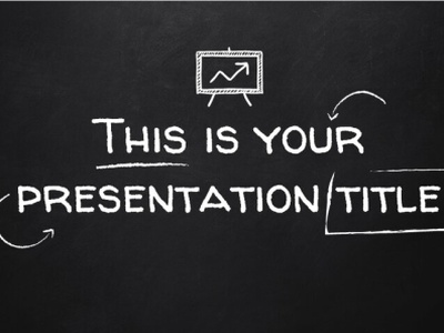 BlackBoard themed Presentation Template for both PowerPoint and advanced powerpoint templates modern powerpoint template powerpoint template google slides themes