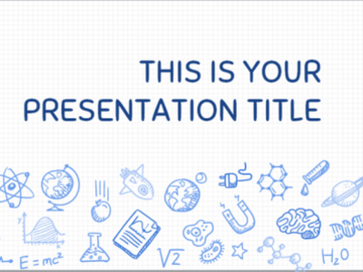 Science themed Presentation Template for both PowerPoint and Goo advanced powerpoint templates modern powerpoint template powerpoint template google slides themes