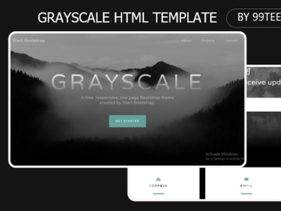 Grayscale html template 99steem html templates website templates template theme html