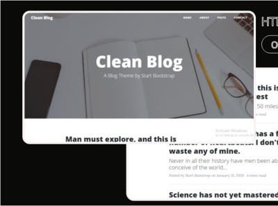 Clean Blog html Template 99steem html templates website templates template theme html