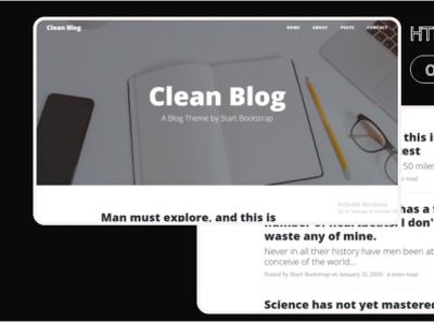 Clean Blog html Template 99steem html templates website templates template theme html