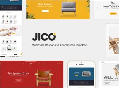 Jico Furniture and Decor for WooCommerce Wordpress online furniture website furniture website template furniture website