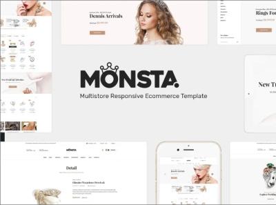 Monsta Jewelry WooCommerce WordPress Theme e commerce website online jewelry website jewelry website