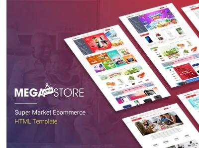 MegaStore Super Market Ecommerce HTML Template shopping store supermarket responsive multipurpose modern multioptions flexible marketplace fashion flat design clean ecommerce electronics