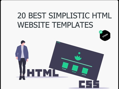 20 Best simplistic Website Templates built with HTML & CSS in 20 modern powerpoint template