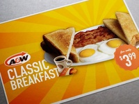 Print ad for A&W