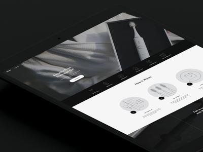 Website Design for Brüush web design ui packaging vancouver design logo branding