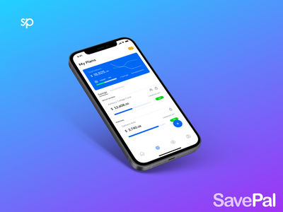 SavePal mockup iphone solaszn savings design ui branding figma fintech app