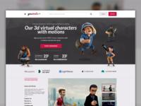 3d characters eshop concept