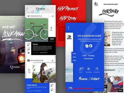 iOS Concept App story typography concept iphone app mobile ios