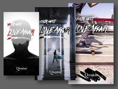 Mobile Splash Screens ui skate surf grunge urban handwriting start splash mobile