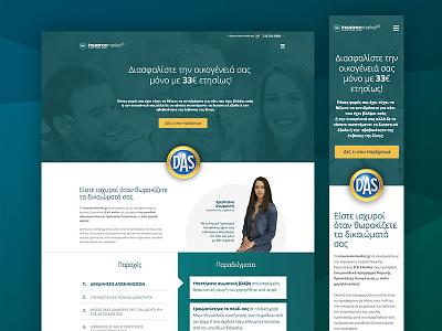 Insurancemarket - Single page web homepage responsive insurance landing website