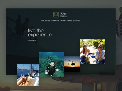 Luxury services website design tourism dark luxury ux ui landing homepage website