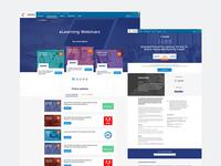 Webinars landing page
