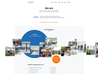 Careers page design website landing page design ui company jobs career landing