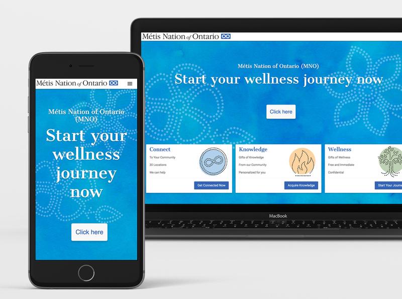Métis Nation Survey App app design web design
