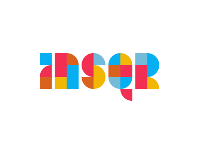 INSQR Logo particle color rectangle sector square logo insqr