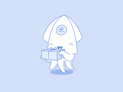 Squid with a gift box gift squid affiliate restream