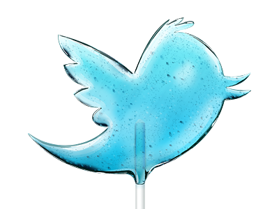 Lollitwitter twitter bird lollipop candy sweet illustration anton gridz