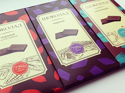 Illustrations for chocolate packages