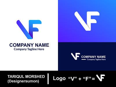Unique Letter Logo  VF modern logo vector logo design logodesign loogdesign lgoodesign logotype lettermark illustrator basic logo