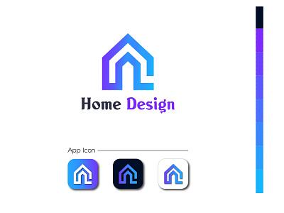 Home App Logo or Icon lettermark lettering loogdesign lgoodesign app illustration logodesign minimalist logo basic logo illustrator app icons real estate app logo real estate app logo app logo