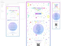 New Year Event Material Design