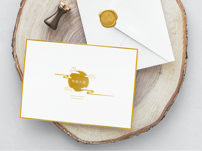 Thank You card for mid-autumn festival thank you card printing marketing design