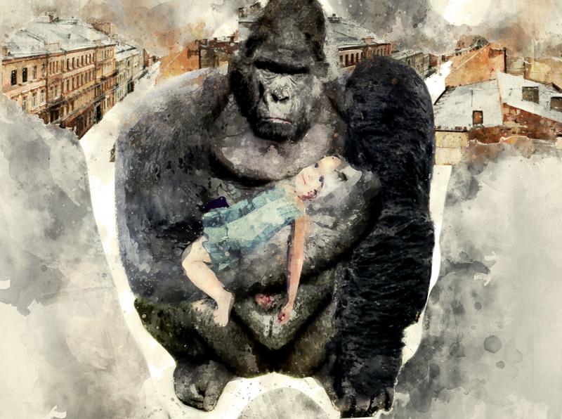 """Korney Chucovsky's poem """"crocodile"""" illustration"""