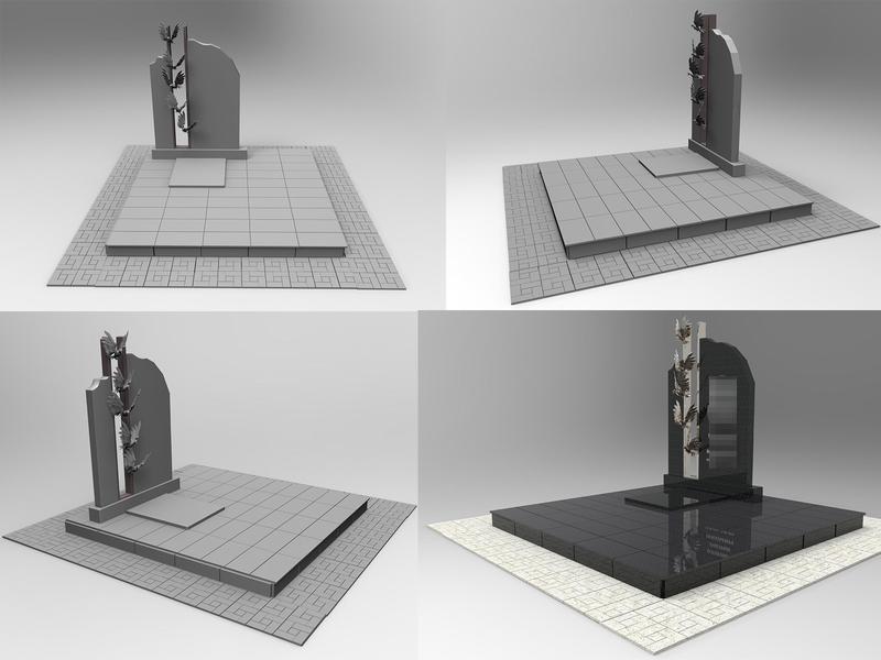 tombstone design 3d artist 3d 3d modeling 3d art tombstone grave design illustration yekaterinburg
