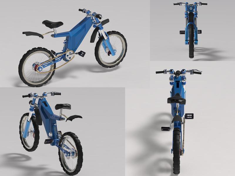 Electric bike maya automotive product design design 3d artist yekaterinburg 3d modeling 3d illustration 3d art