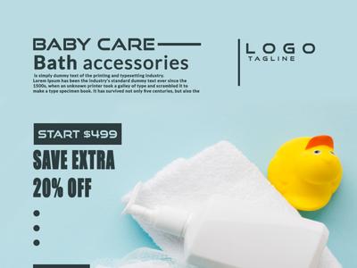 babycare web banner design illustrator photoshop banner banner ads poster design