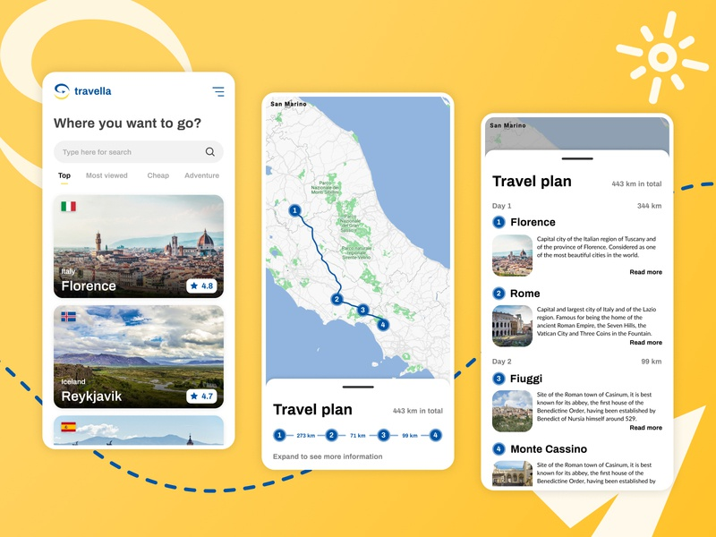 Travella search map location together tgth travel app design ux ui
