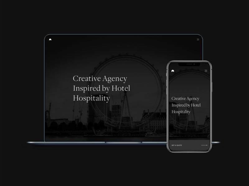 Creative Agency Website product black responsive design uxdesign product design website about desktop agency ui design ux ux design design