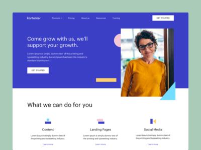 Website - Homepage - Kontenter