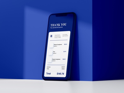 Receipt ui points blue user inteface ui userinterface receipt