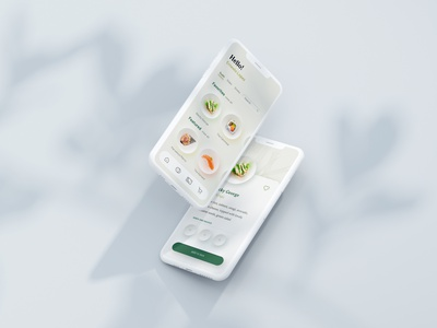 Clean UI for a sushi ordering app neumorphism neumorphic sushi roll app design mobile ordering userinterface user interface design user interface app ui sushi