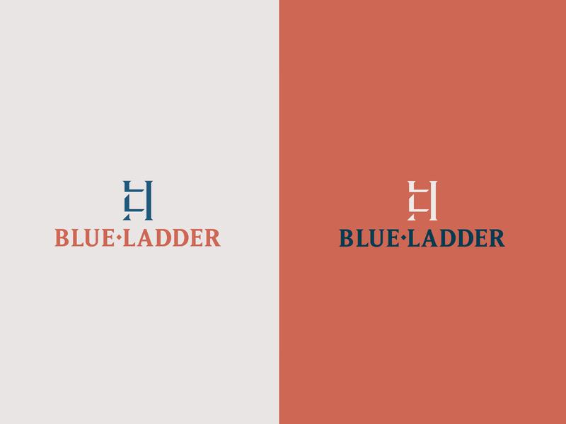 Blue Ladder Realestate steps grids mark symbol brand identity branding brand realestate logo realestatelogo realestate blue ladder