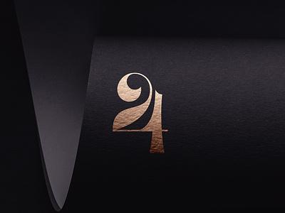 24 Monogram type logotype typography ligature monogram number twenty four 24