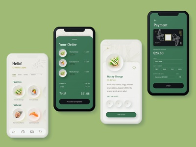 Dozo — Sushi App ui neumorphic design neumorphism ui neumorphism neumorphic mobile order user interface ux ui iphone app design app sushi user experience userinterface