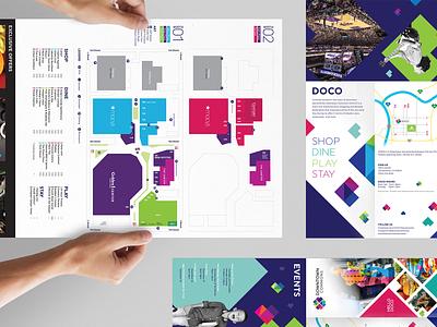 Downtown Commons | Sacramento |  Map Brochure directory map layout sacramento downtown commons brochure wayfinding