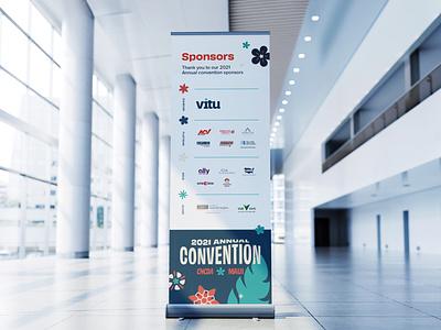 Sponsor Sign | CNCDA Convention banner floor sign sponsors sponsor sign logo soup