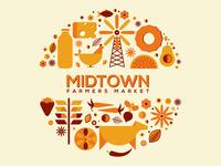 Midtown Farmers Market - Illustration