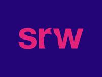 SRW logo - negative space
