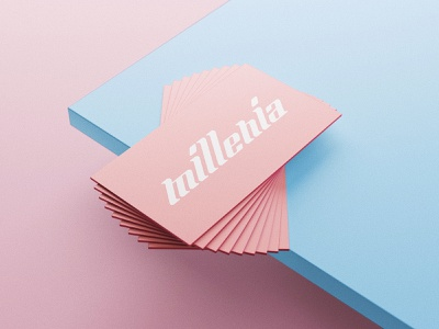 Custom Type - Millenia logo typography logotypedesign type meillenia logotype