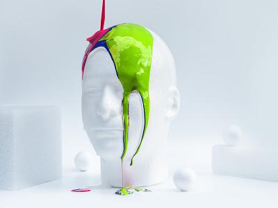 Liquid Paint art direction design 3d modeling model art direction paint