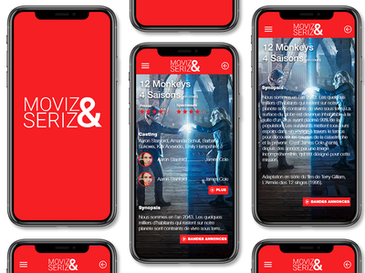 Moviz&Seriz UI/UX adobe xd graphic design application app design ux ui