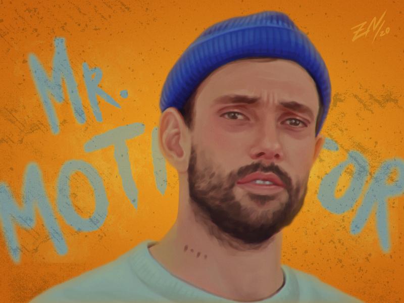 portrait of Joe Talbot man joe talbot idles art portrait art illustration digitalart portrait